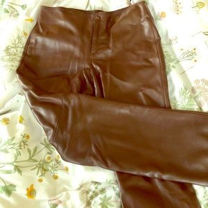 Banana Republic leather pants